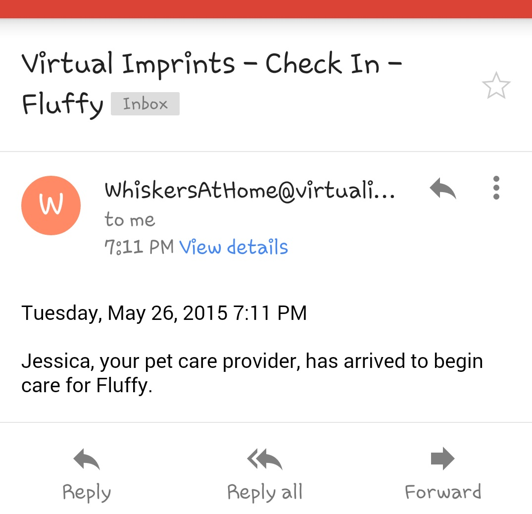 check in email